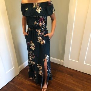 {Maurices} maxi floral dress size XS